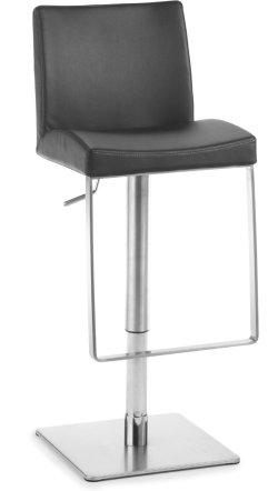 hochwertiger barhocker mit bequemen polstersitz h henverstellbar und design fu st tzen. Black Bedroom Furniture Sets. Home Design Ideas