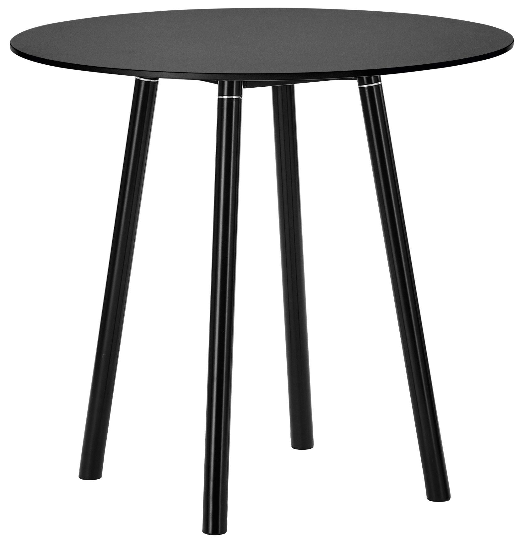 Runder Tisch Metallgestell.Schwarzer Esstisch Runde Tischplatte