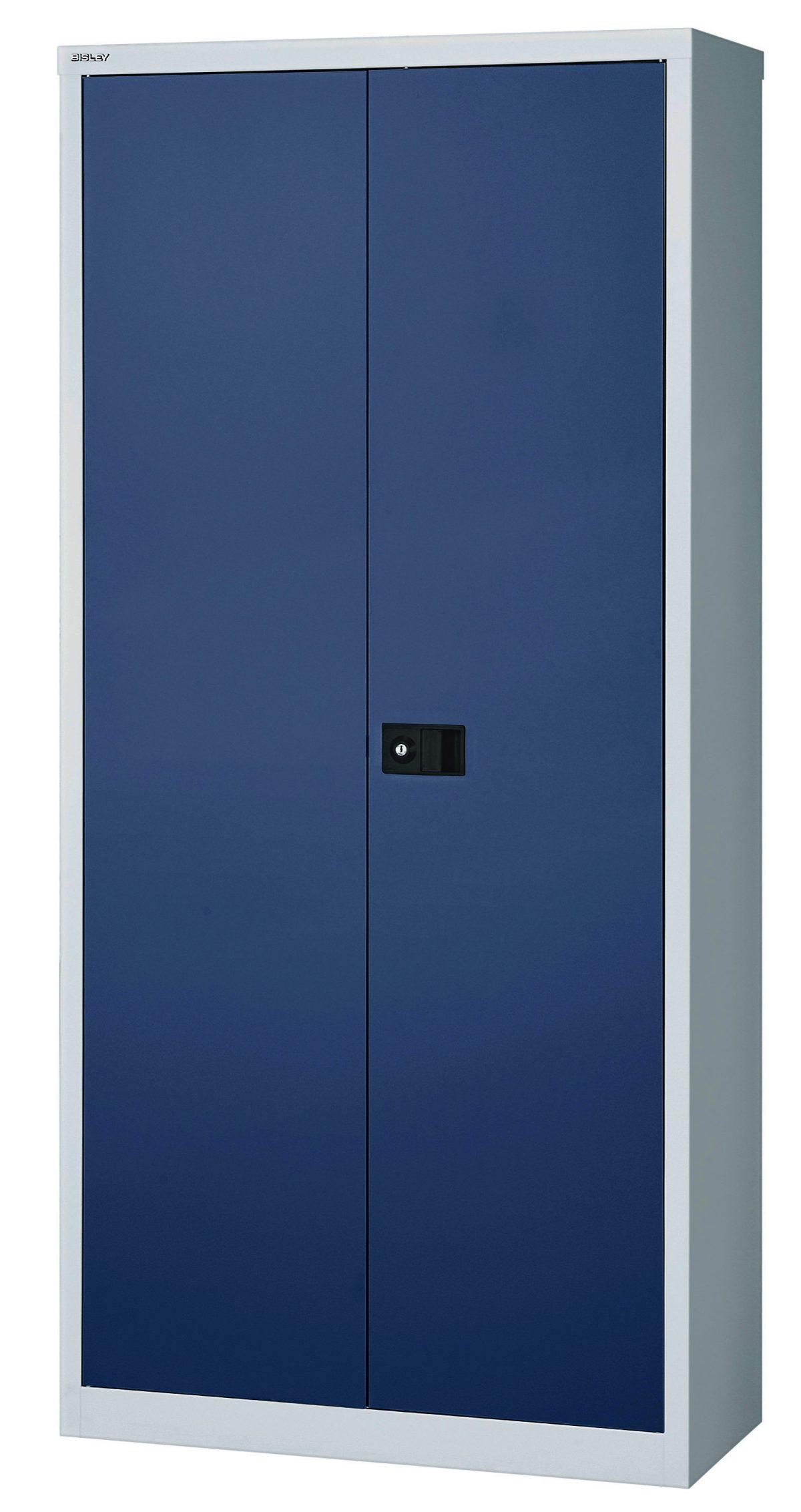 preiswerter Büro-Metallschrank (Höhe = 180 cm) von Bisley: robuster ...