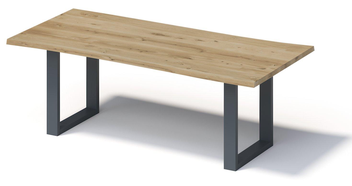 38-Personen-Esstisch mit Unikat-Tischplatte aus Eiche-Massivholz
