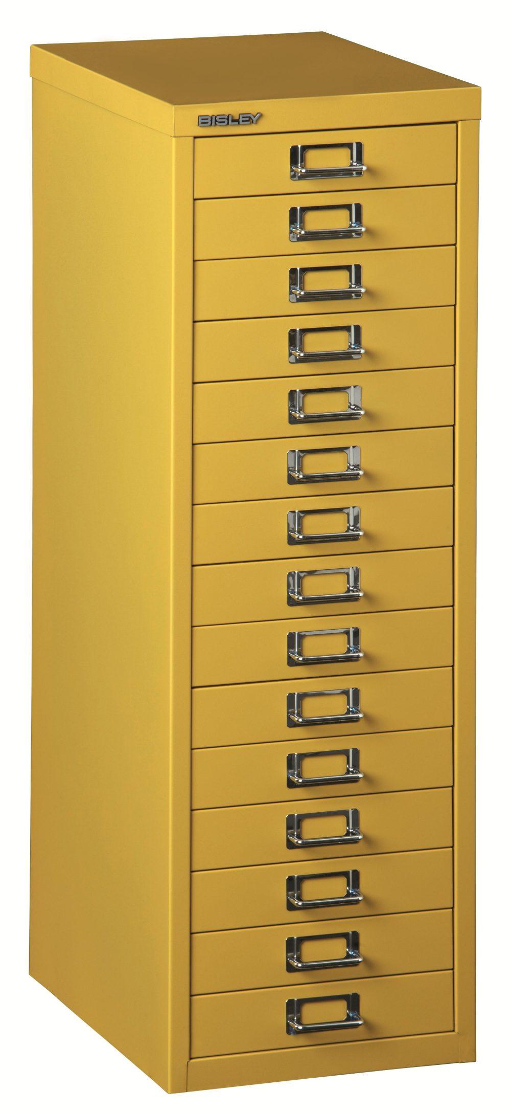 l 3915 gelb robuster din a4 schubladen stahlschrank aus. Black Bedroom Furniture Sets. Home Design Ideas