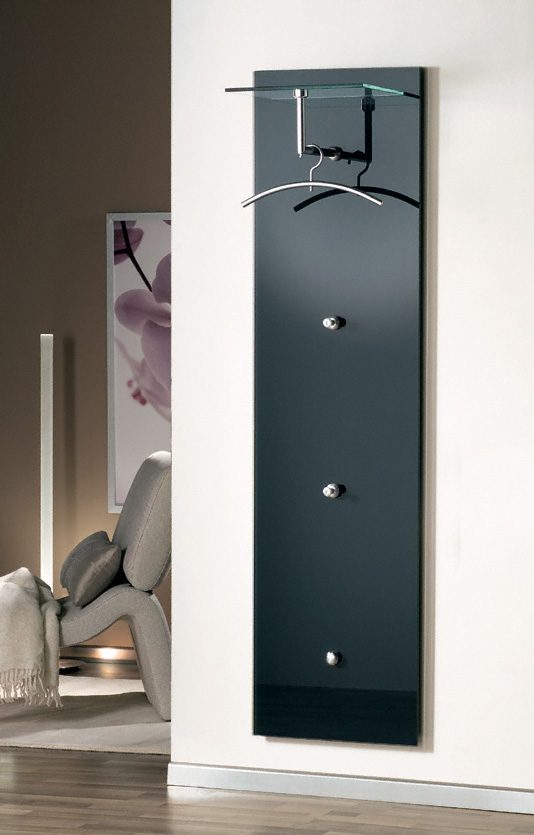 moderne wandgarderobe wall 3 anthrazit wandpaneel aus. Black Bedroom Furniture Sets. Home Design Ideas