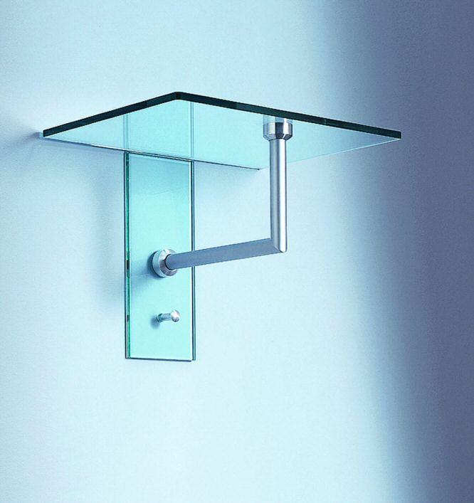 wandgarderobe aus klarglas oder satiniertem glas mit hutablage garderobe gard 01. Black Bedroom Furniture Sets. Home Design Ideas