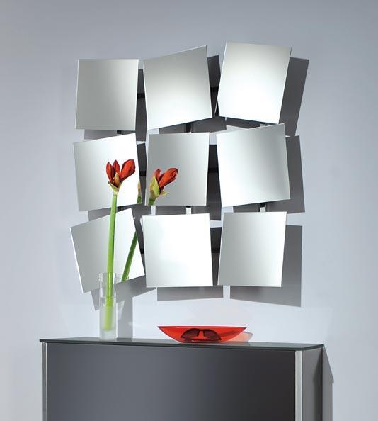 design wandspiegel mit 9 verstellbaren einzelspiegel. Black Bedroom Furniture Sets. Home Design Ideas