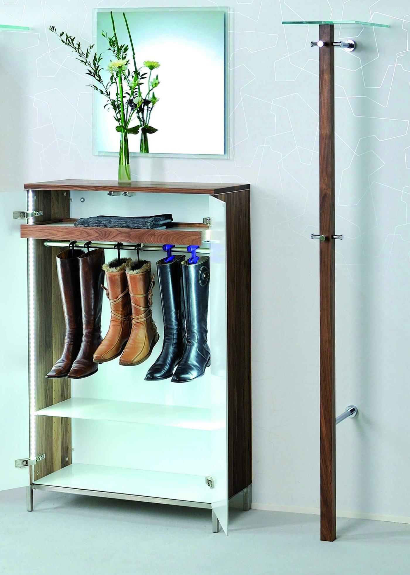 Hochwertiger Und Moderner Schuhschrank Aus Nussbaum Massiv Weisse