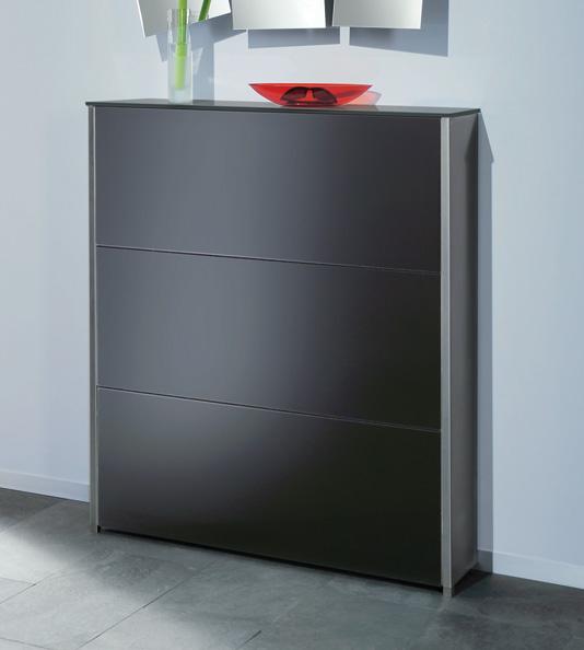 moderner schuhschrank mit 3 klappf cher f r bis zu 21 paar. Black Bedroom Furniture Sets. Home Design Ideas
