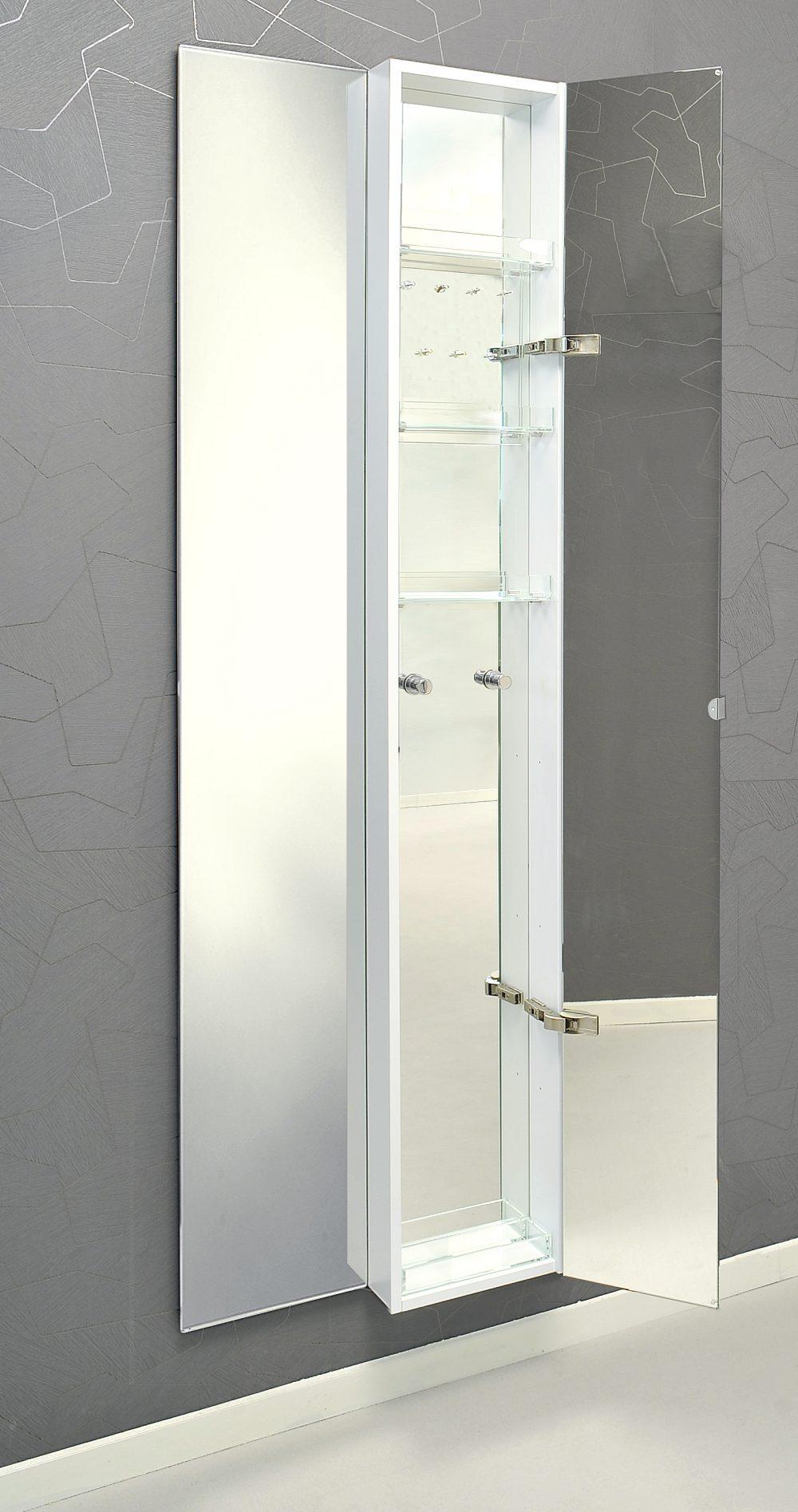 Hochwertiger Spiegelschrank Weiss Lackiert Zur Wandmontage In
