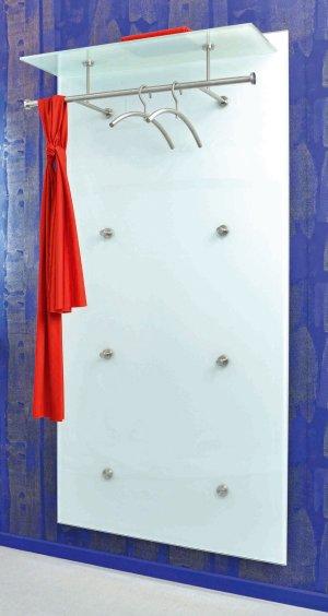 Wandgarderobe Glas Satiniert.Garderoben Wandpaneele Aus Sicherheitsglas Edelstahl