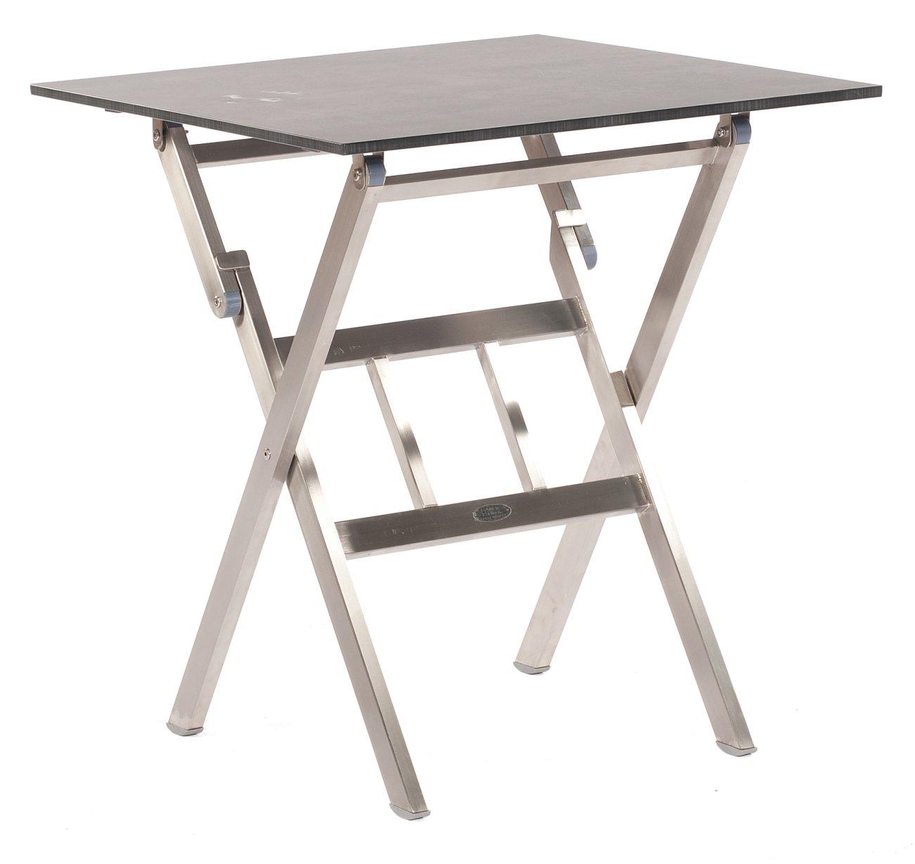 Zusammenklappbarer Gartentisch Edelstahl Tischgestell