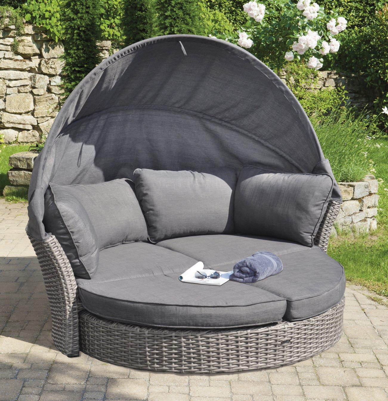 geflecht gartensofa bequem wetterfest zu garten liegeinsel umbaubar. Black Bedroom Furniture Sets. Home Design Ideas