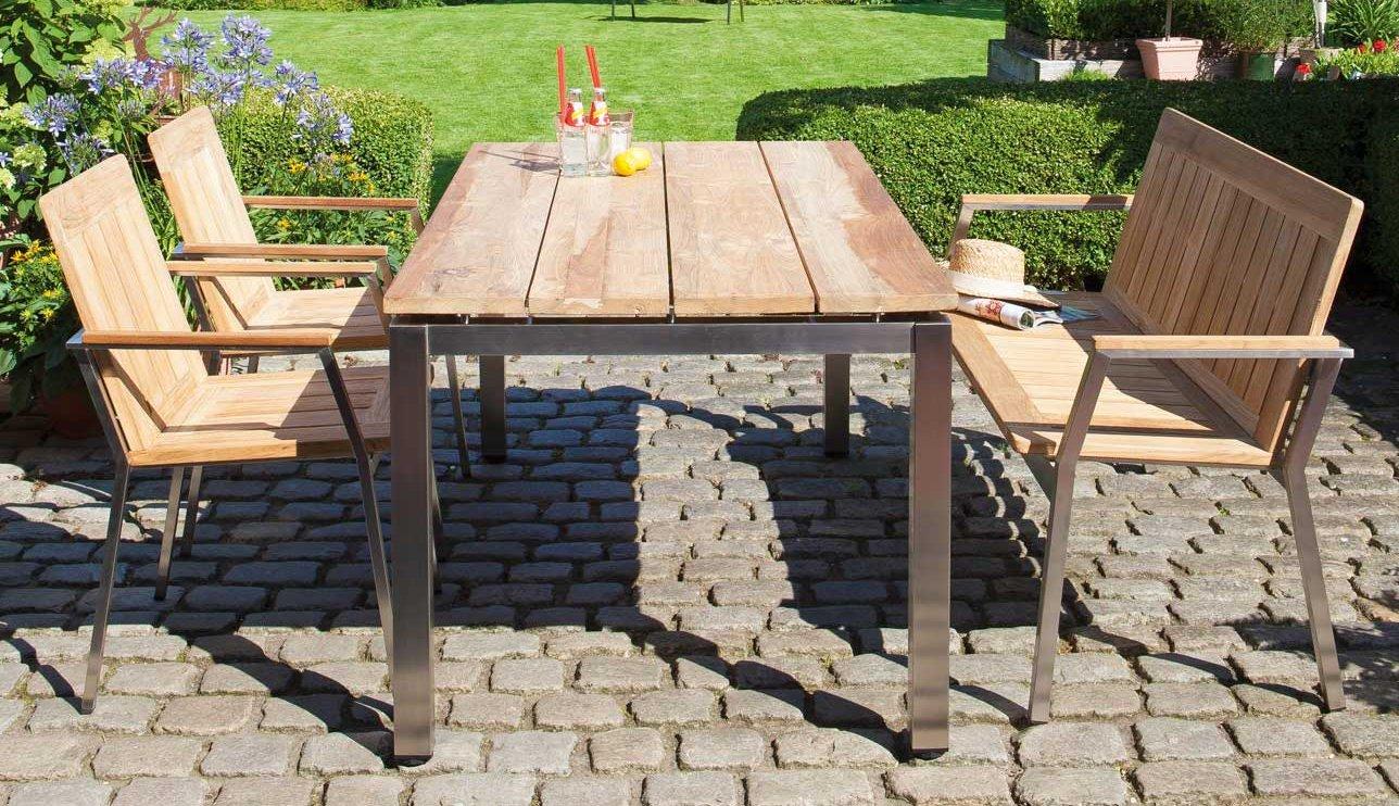 Robuste Gartenmöbel Aus Edelstahl Und Massivem Teakholz