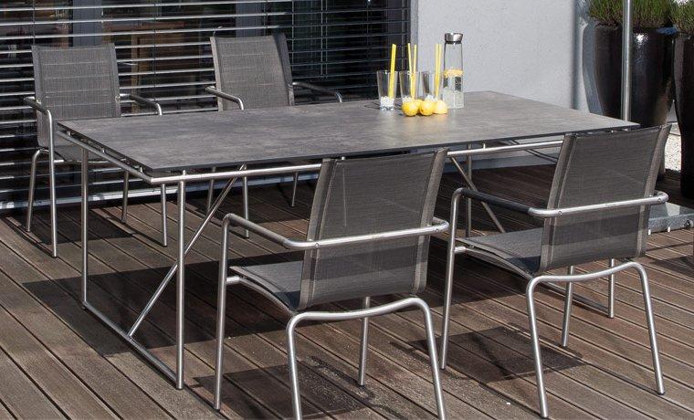 Eleganter Terrassentisch Tischgestell Edelstahl Rund Mit Robuster