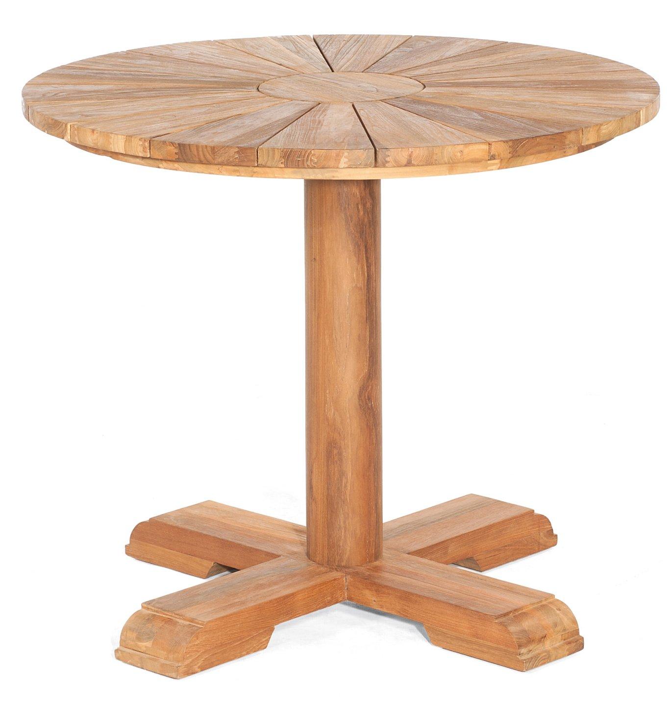 Runder Old Teak Gartentisch Durchmesser Tischplatte 90 Cm 70 Cm