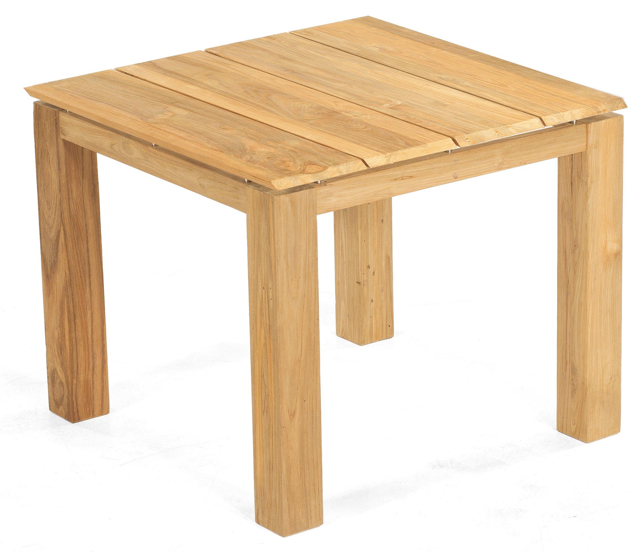 Quadratischer Massivholz Gartentisch 90 X 90 Cm Massiv Teak Tischplatte