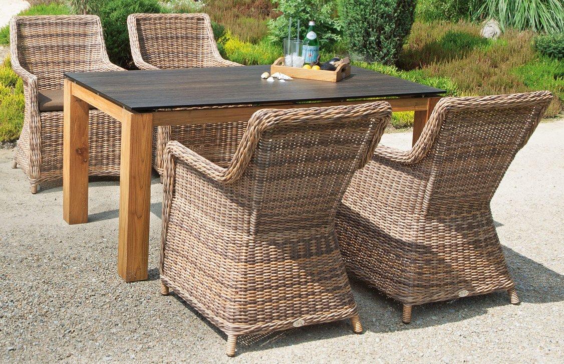 Robuster Gartentisch Tischgestell Aus Old Teak Massiv