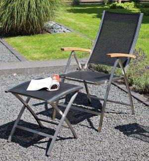 klappstuhl paragon bequemer und zusammenklappbarer gartenstuhl stuhlgestell edelstahl. Black Bedroom Furniture Sets. Home Design Ideas