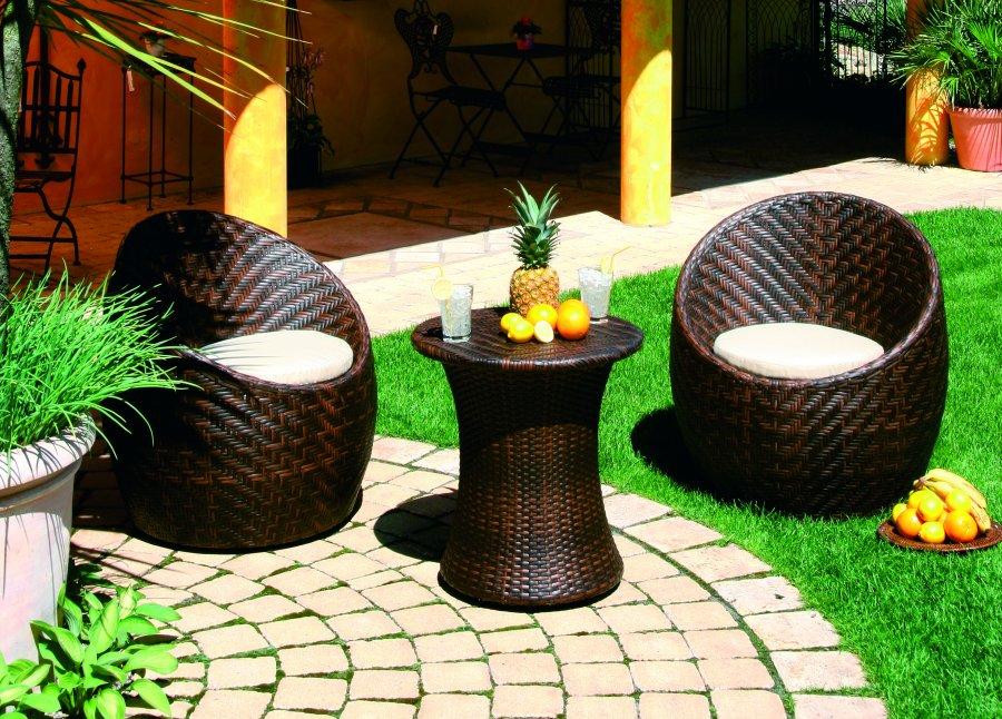 Lounge Gartenmobel Set Bestehend Aus Einem Kleinen Runden
