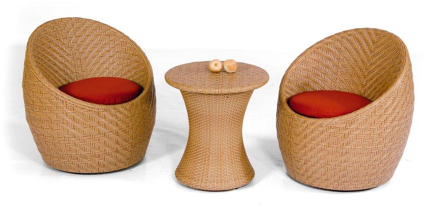 Lounge sessel rund garten  wetterfeste Polyrattan-Möbel für den Garten oder Wintergarten ...
