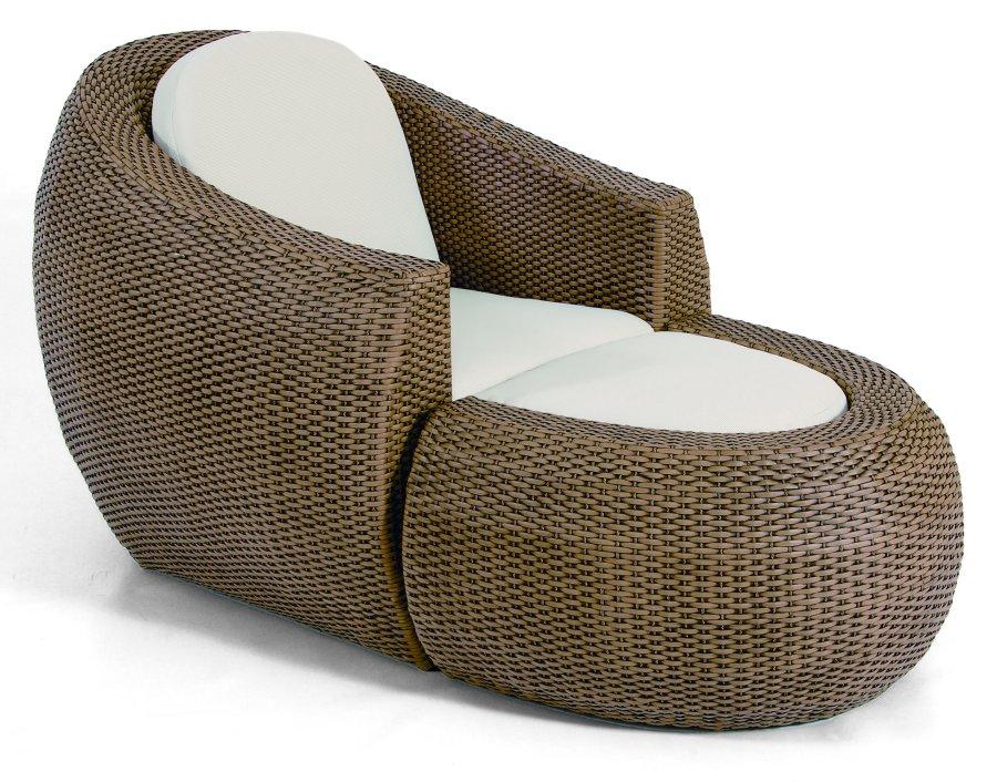 Gartensessel lounge  Abbildung: bequemer Lounge-Gartensessel mit Fußhocker
