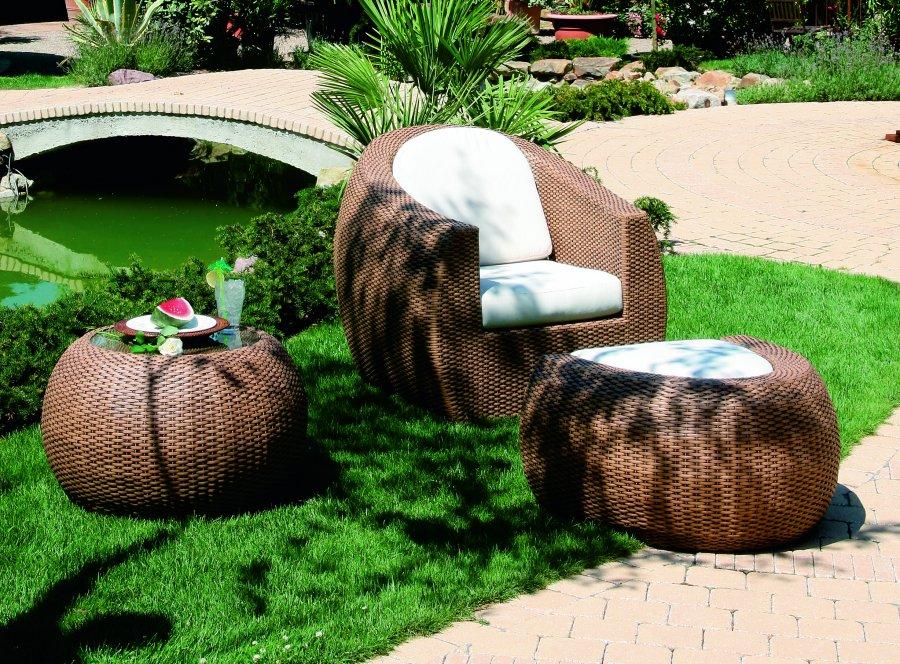 abbildung: sehr hochwertige geflecht-möbel für terrasse, garten, Hause deko