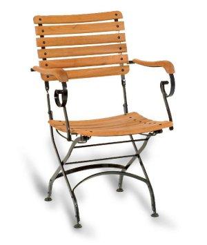 Klappstuhl garten  zusammenklappbarer Gartenstuhl mit einem stabilem Stuhlgestell aus ...
