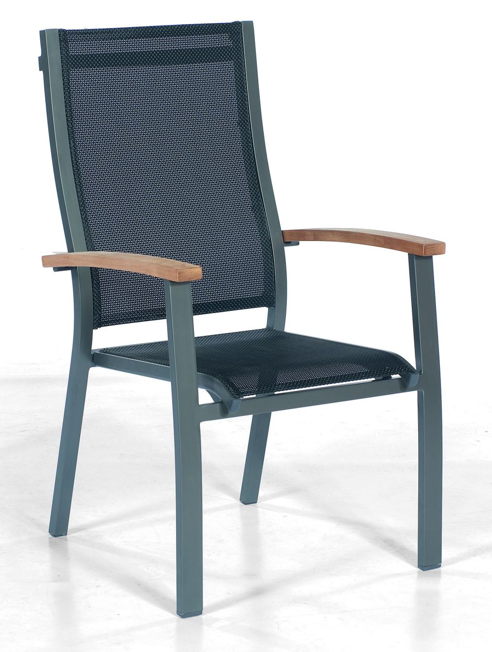 stapelbarer gartenstuhl aluminiumgestell anthrazit. Black Bedroom Furniture Sets. Home Design Ideas