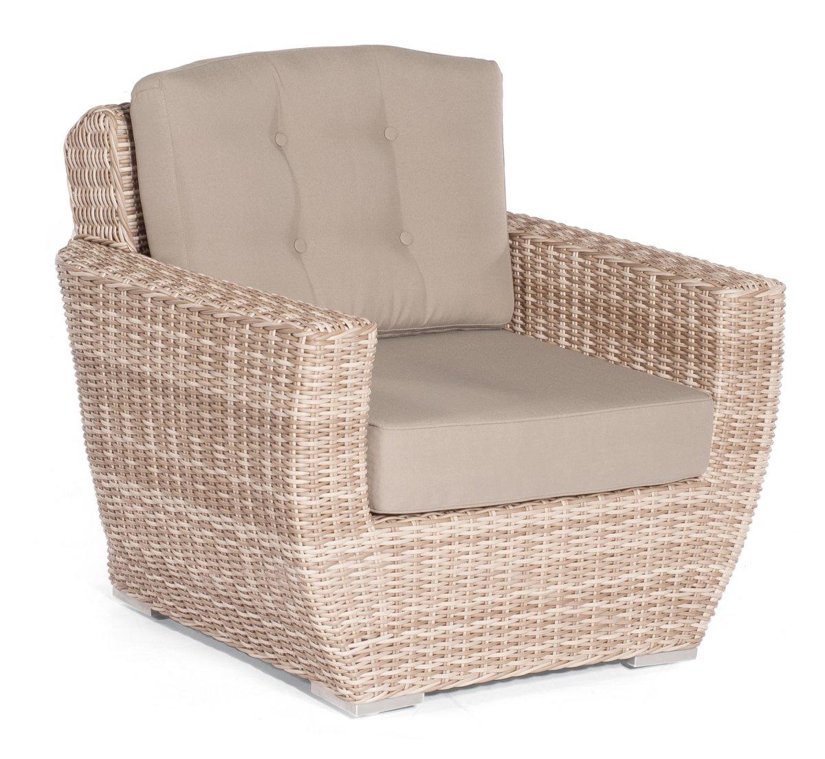 Lounge Möbel Mittelmodul 2-Sitzer für Korbmöbel Royal antik weiss
