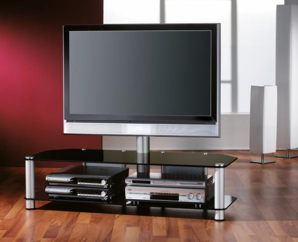 hochwertige hifi racks tv rack mit flatscreen halterung. Black Bedroom Furniture Sets. Home Design Ideas