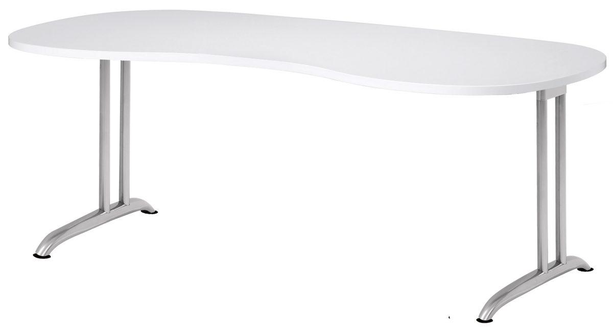 schreibtisch easy work ew 20 mit nierenf rmiger kratzfester tischplatte. Black Bedroom Furniture Sets. Home Design Ideas