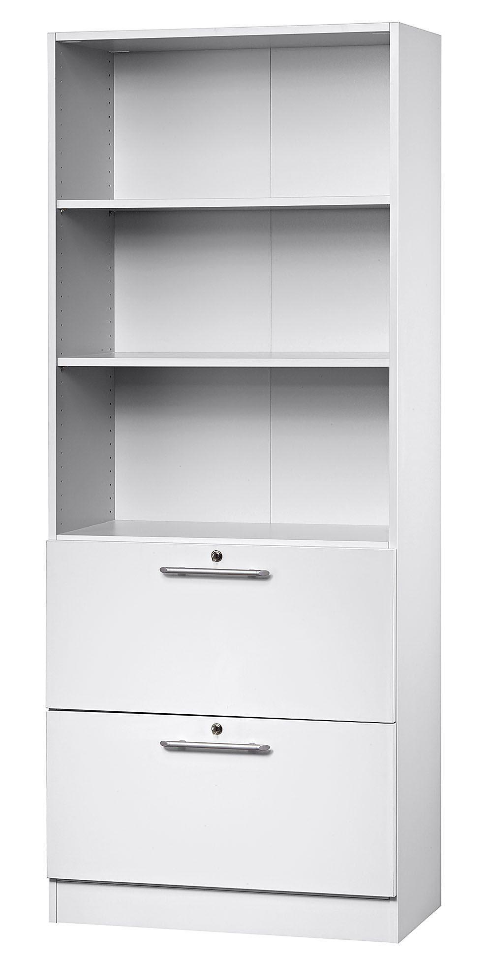 Büroschrank weiß robuster Büroschrank mit 2 separat abschließbaren DIN A4 ...