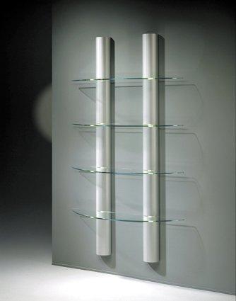 Beleuchtetes Wandregal Mit 4 Stabilen Glas Fachböden