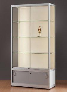 preiswerte standvitrine mit unterschrank led beleuchtungsstreifen abschlie bar. Black Bedroom Furniture Sets. Home Design Ideas