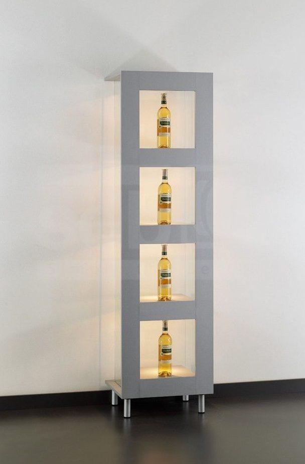 Moderne Vitrinen abschließbare design vitrine mit 4 festen fachböden und led
