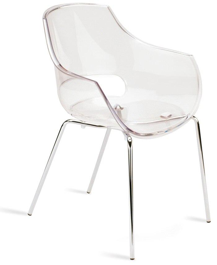 abbildung stapelbarer armlehnen stuhl opal transparent klar mit transparenter sitzschale aus. Black Bedroom Furniture Sets. Home Design Ideas