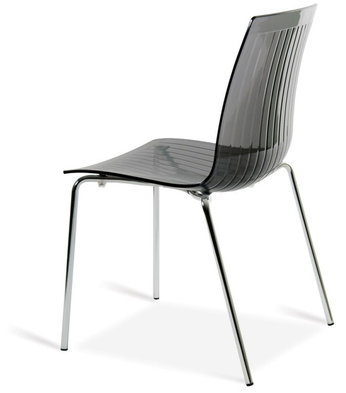 Abbildung stapelbarer stuhl x treme s transparent grau mit transparenter sitzschale aus - Transparenter stuhl ...