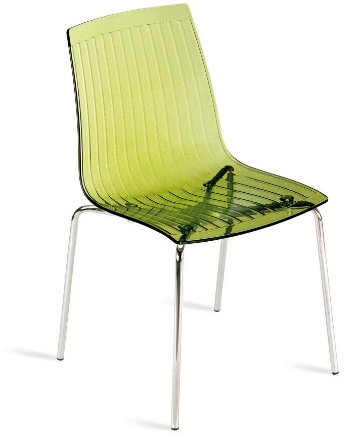Abbildung stapelbarer stuhl x treme s transparent gr n mit transparenter sitzschale aus - Transparenter stuhl ...