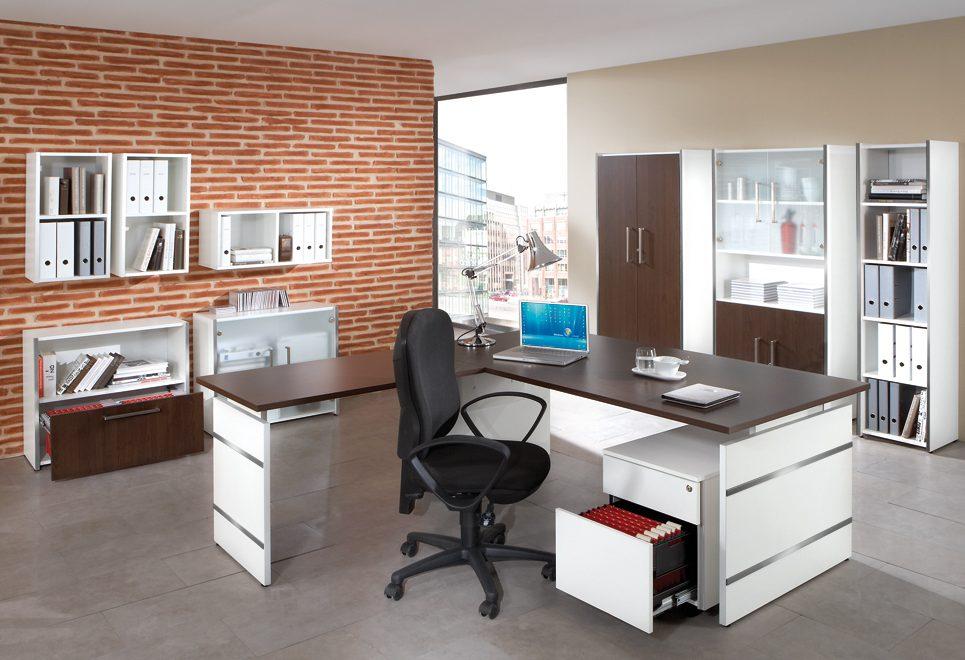 preiswerte b roeinrichtung form 4 robuste und moderne b rom bel b roschr nke wei lackiert. Black Bedroom Furniture Sets. Home Design Ideas