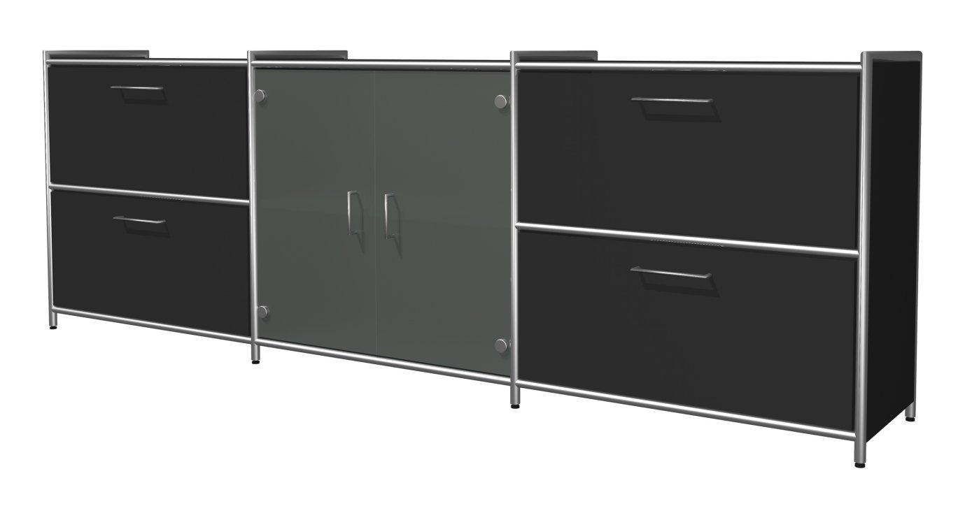 schönes Bürosideboard satinierten Glastüren mit Aufbauservice