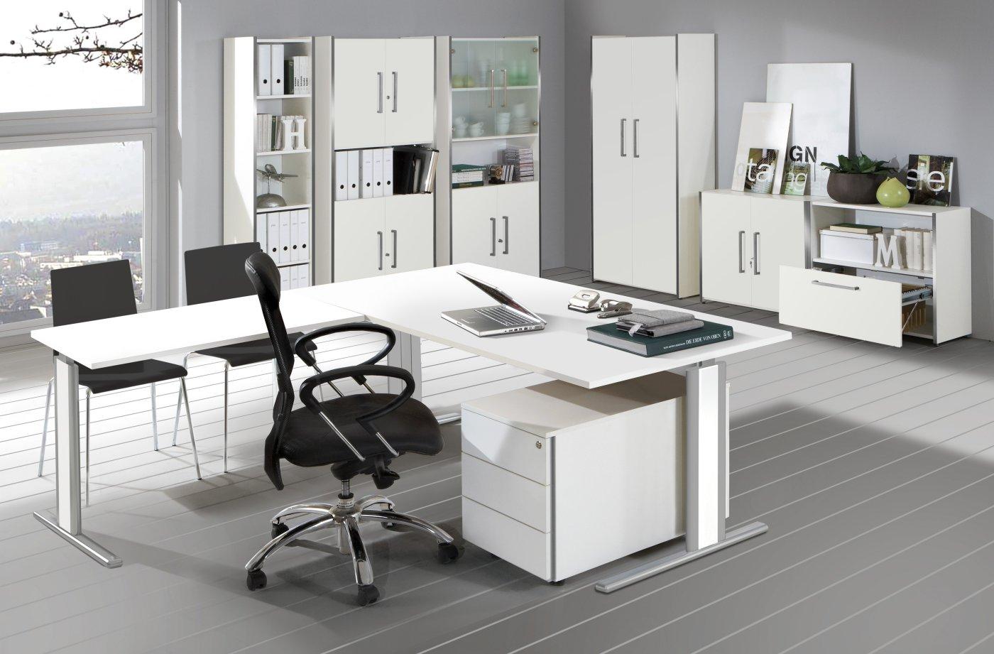 moderne b roeinrichtung form 4 wei robuste und preiswerte b roausstattung. Black Bedroom Furniture Sets. Home Design Ideas