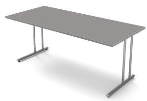schreibtisch g nstig stahlrohrgestell tischplatte mit kabelkanal. Black Bedroom Furniture Sets. Home Design Ideas