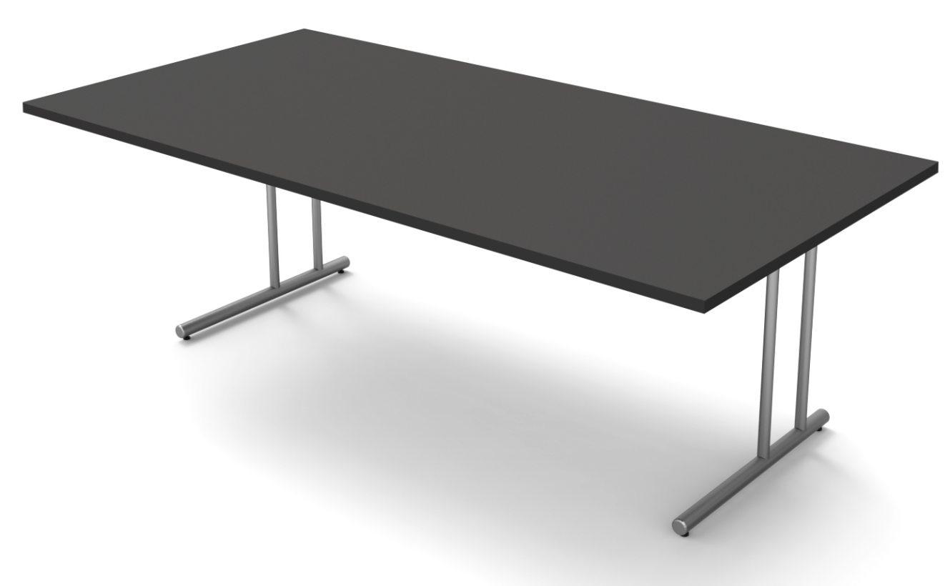 g nstiger schreibtisch gro e tischplatte 200 x 100 cm mit kabelkanal. Black Bedroom Furniture Sets. Home Design Ideas