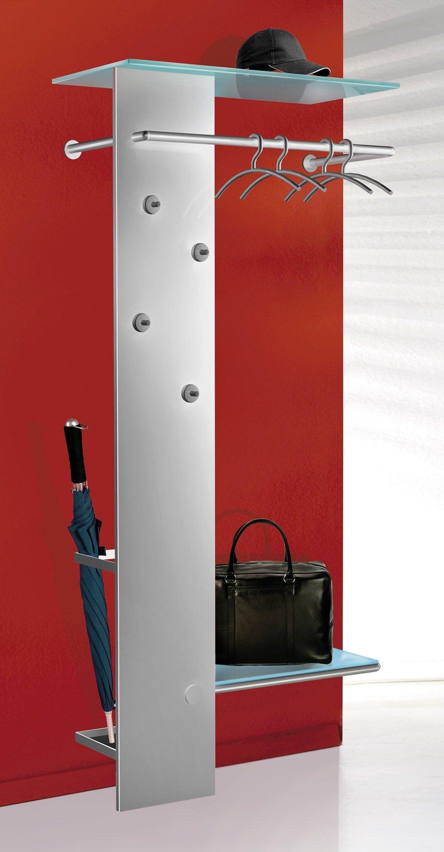 Wandgarderobe Glas Satiniert.Moderne Metall Wandgarderobe Mit Beweglichen Kleiderhaken