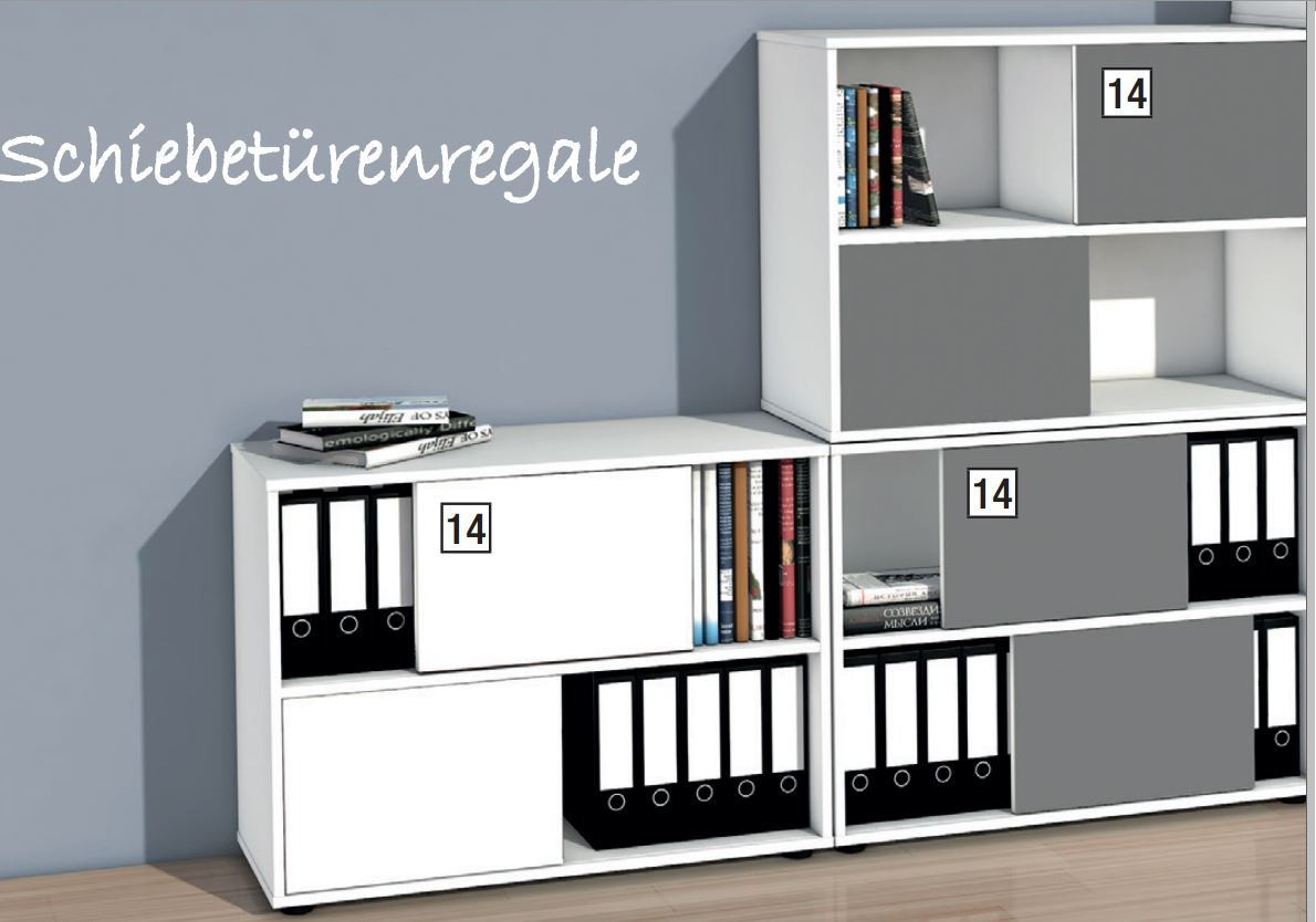 stapelbarer schiebet ren b roschrank mit zweifarbigen wendet ren. Black Bedroom Furniture Sets. Home Design Ideas