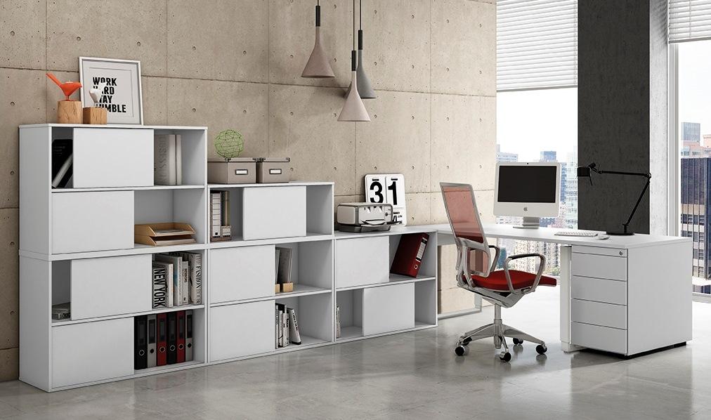 selbst gestaltbare Büroeinrichtung stapelbare Schiebetüren-Büroschränke