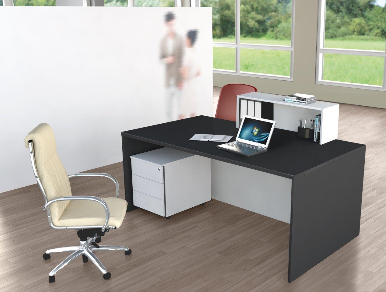 kundenberater tisch mit led beleuchtung flexibler sichtschutz und viel beinfreiheit. Black Bedroom Furniture Sets. Home Design Ideas