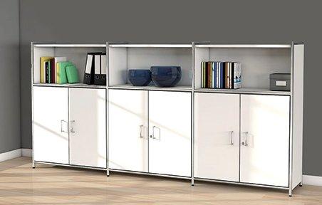 elegantes b ro highboard anthrazit mit lieferung und aufbau. Black Bedroom Furniture Sets. Home Design Ideas