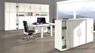 preiswerter und robuster b roschrank mit abschlie baren schiebet ren. Black Bedroom Furniture Sets. Home Design Ideas