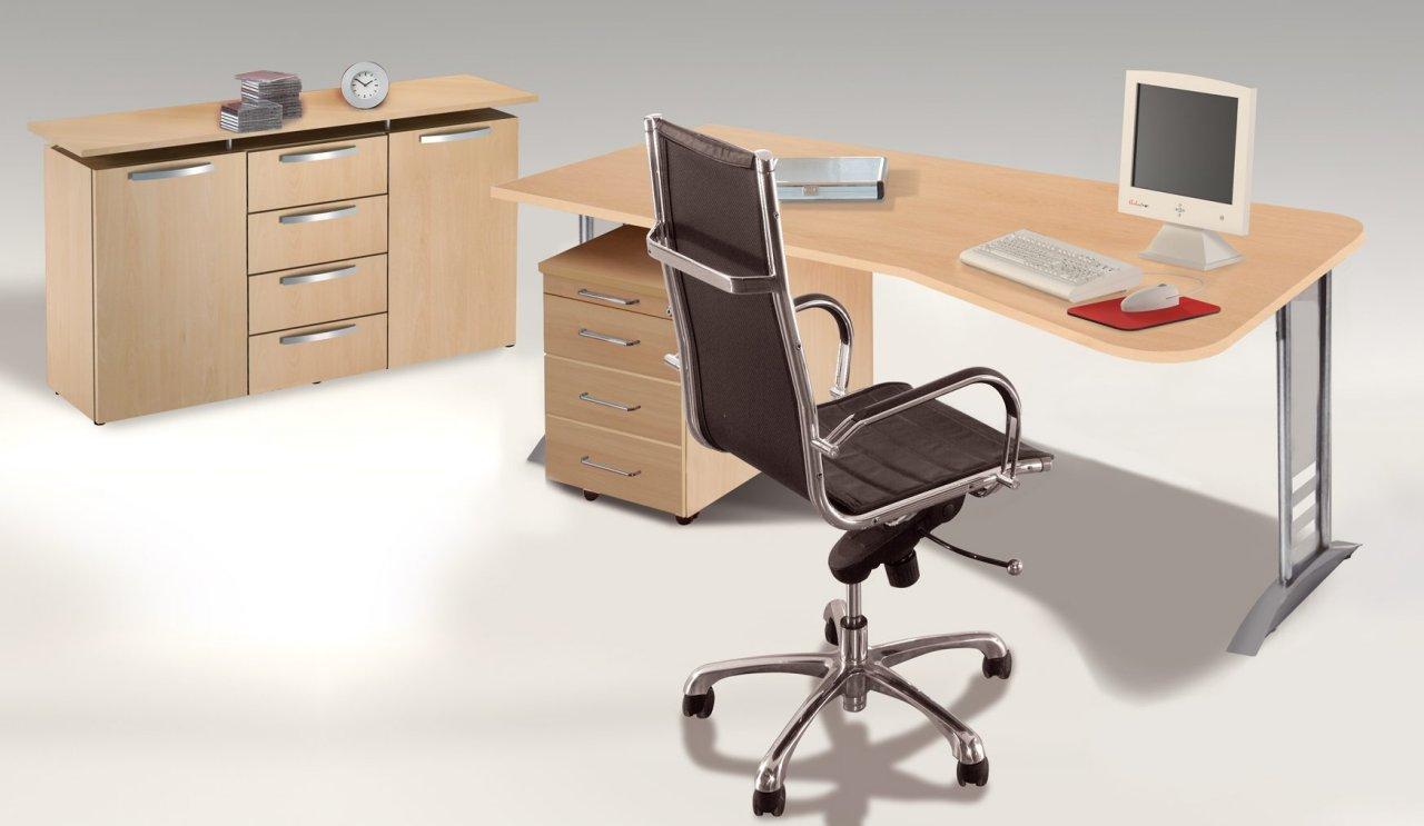 robuste b rom bel der b ro 2000 serie h henverstellbarer edv schreibtisch mit kabelwanne und. Black Bedroom Furniture Sets. Home Design Ideas