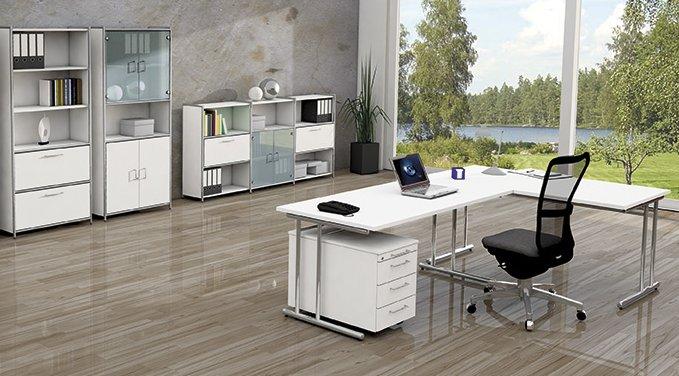 moderne b rom bel stahlrohrgestell mit aufbauservice. Black Bedroom Furniture Sets. Home Design Ideas