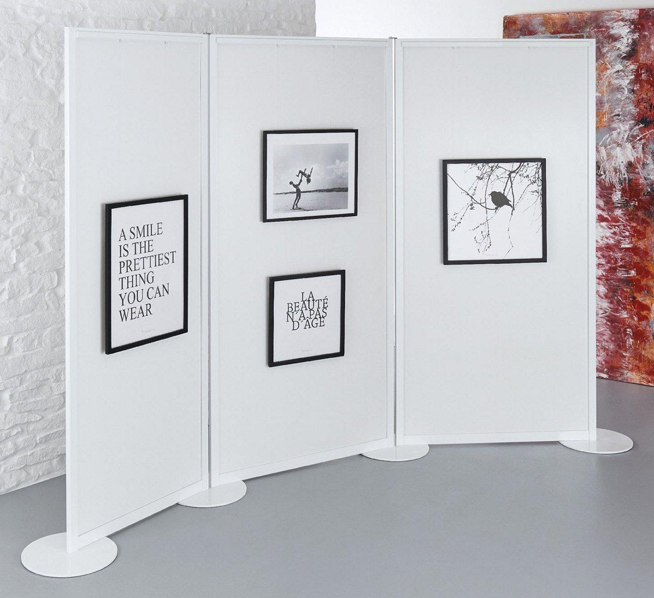 standstabile Galerie-Stellwand für Ausstellungen und Pinakotheken